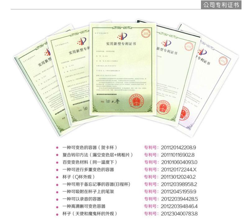 昌成公司专利证书