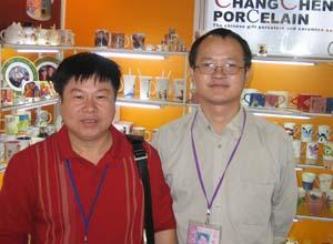 昌成陶瓷bob投注下载厂家代表与客户合影